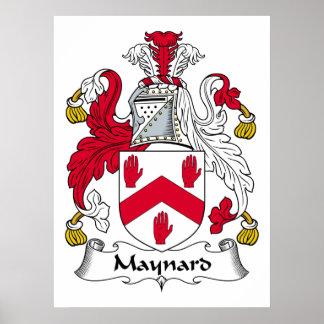 Maynard Family Crest Poster
