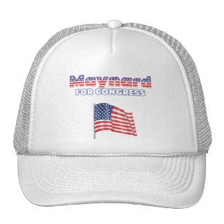 Maynard for Congress Patriotic American Flag Mesh Hat