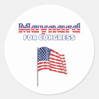 Maynard for Congress Patriotic American Flag Round Sticker