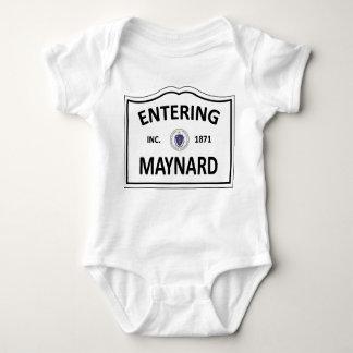 MAYNARD MASSACHUSETTS Hometown Mass MA Townie Baby Bodysuit