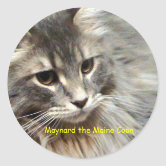 Maynard the Maine Coon Classic Round Sticker