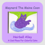 Maynard The Maine Coon Square Sticker