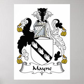 Mayne Family Crest Print