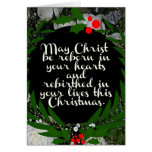 Mayo Cristo sea renacido en sus corazones Tarjeta