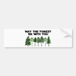 Mayo el bosque esté con usted pegatina de parachoque