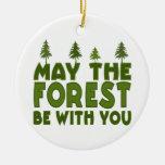 Mayo el bosque esté con usted ornamentos de navidad