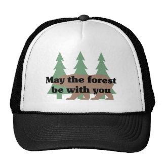Mayo el bosque esté con usted gorros