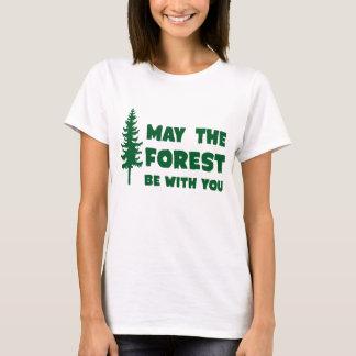 Mayo el bosque esté con usted playera