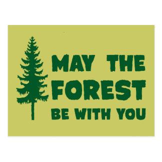 Mayo el bosque esté con usted postal