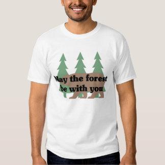 Mayo el bosque esté con usted remeras