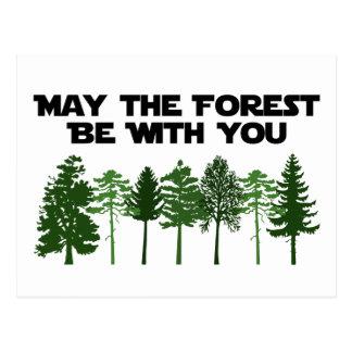 Mayo el bosque esté con usted tarjeta postal