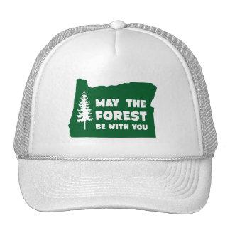Mayo el bosque sea con usted Oregon Gorras