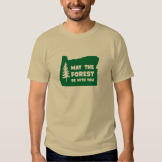 Mayo el bosque sea con usted Oregon Poleras