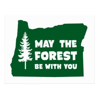 Mayo el bosque sea con usted Oregon Tarjetas Postales