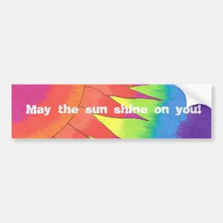 ¡Mayo el brillo del sol en usted! Pegatina para el Pegatina De Parachoque