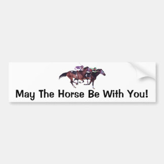 ¡Mayo el caballo esté con usted! Etiqueta De Parachoque