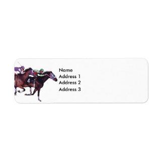 ¡Mayo el caballo esté con usted! , Dirección 3, di Etiquetas De Remite