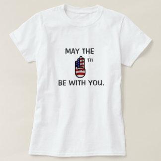 Mayo el cuarto sea con usted camiseta playeras