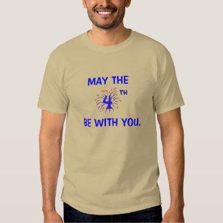 Mayo el cuarto sea con usted camiseta remera