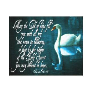 Mayo el señor del terraplén de la esperanza usted  impresión en lienzo