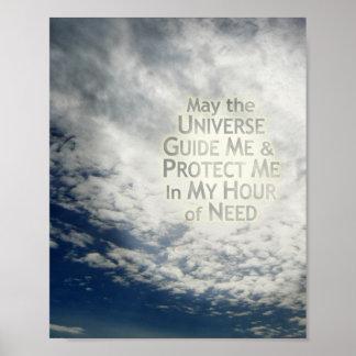 Mayo el universo me dirige - poster de Resizeable