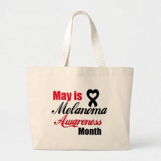 Mayo es cinta del mes de la conciencia del melanom bolsa tela grande
