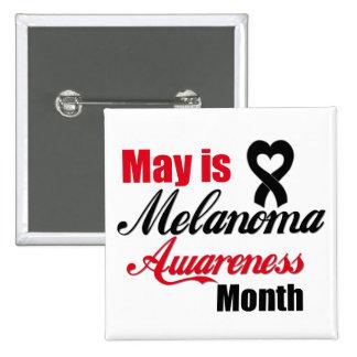 Mayo es cinta del mes de la conciencia del melanom pins
