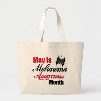Mayo es mes de la conciencia del melanoma bolsa tela grande