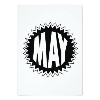 Mayo Invitación 12,7 X 17,8 Cm