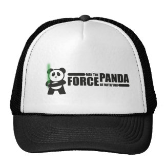 Mayo la fuerza de la panda esté con usted gorro de camionero