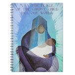 Mayo la paz del terraplén del niño de Cristo nuest Libreta