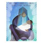 Mayo la paz del terraplén del niño de Cristo nuest Membrete Personalizado