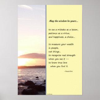Mayo la sabiduría sea la suya… póster
