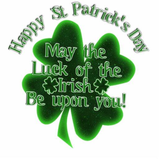 ¡Mayo la suerte del irlandés esté sobre usted! Fotoescultura Vertical