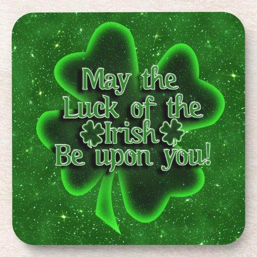 Mayo la suerte del irlandés… posavasos de bebidas