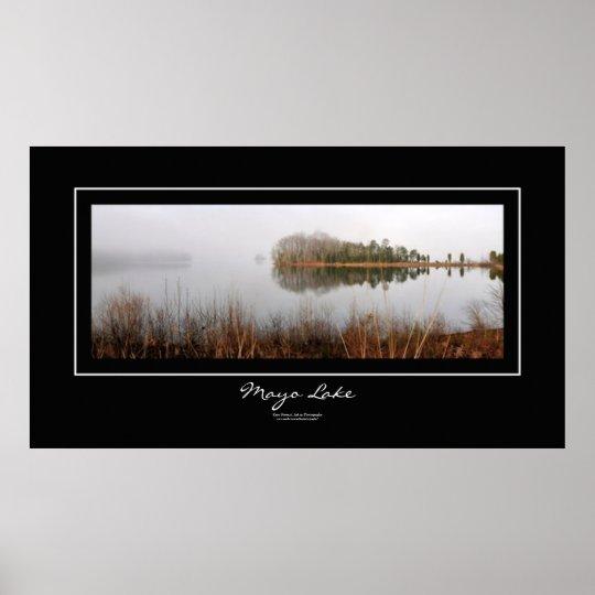 Mayo Lake Black Border Poster
