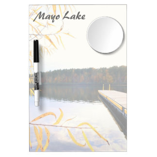 Mayo Lake Boat Dock Dry Erase Board With Mirror