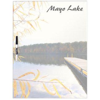 Mayo Lake Boat Dock Dry Erase Whiteboard