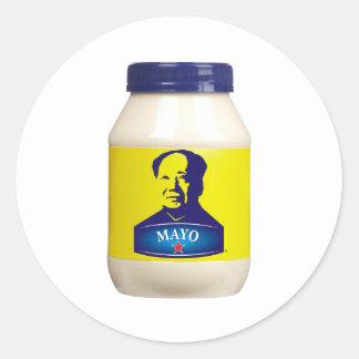 MAYO - nueva mayonesa china Etiquetas Redondas