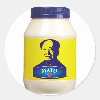MAYO - nueva mayonesa china Pegatina Redonda