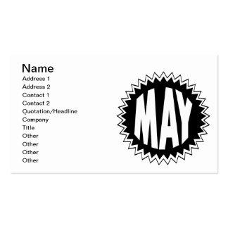 Mayo Plantilla De Tarjeta Personal