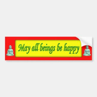 Mayo todos los seres sean felices - pegatina para  pegatina para auto