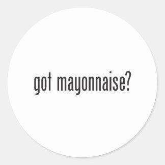 mayonesa conseguida pegatina redonda