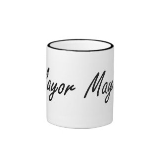 Mayor Artistic Job Design Ringer Coffee Mug