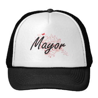 Mayor Artistic Job Design with Butterflies Trucker Hat