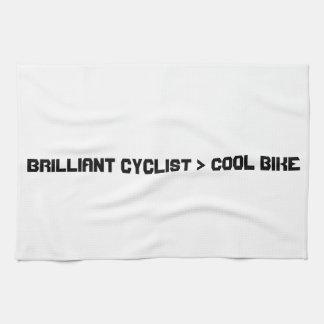 Mayor bici que fresca del ciclista brillante toalla de mano