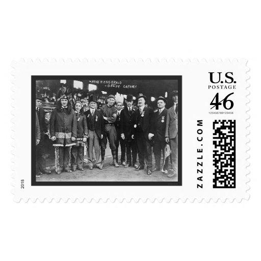 Mayor Boston Baseball 1914 Postage Stamp