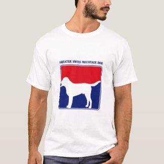 Mayor camiseta suiza del perro de la montaña de la