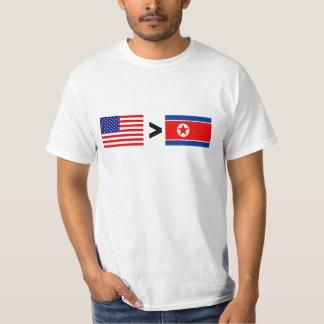 MAYOR COREA DEL NORTE QUE camiseta de los E.E.U.U. Poleras