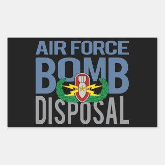 Mayor del EOD de la fuerza aérea Pegatina Rectangular